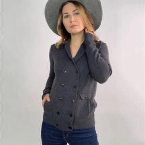 J. Crew Wool Double Breasted Cardigan